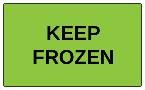 """Keep Frozen"" Label"