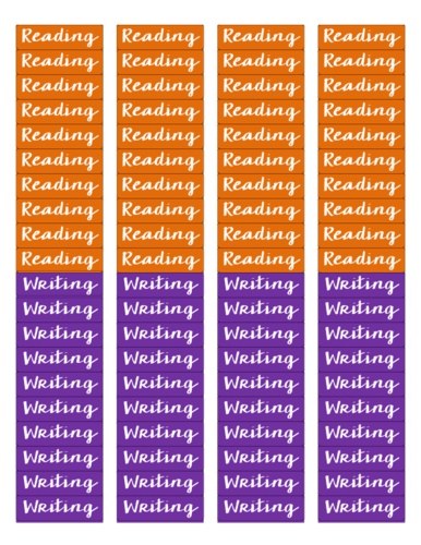 Reading and Writing Lesson Plan Sticker