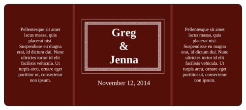 Maroon Wedding Wine Bottle Label