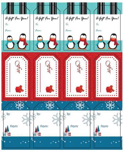 Assorted Holiday Gift Tags Printable