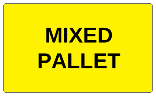 """Mixed Pallet"" Label"
