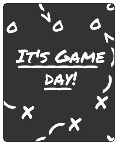 Game Day Chalk-Style Wine Bottle Label