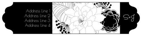 Floral Wrap-Around Address Label