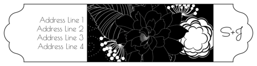 Inverted Floral Wrap-Around Address Label
