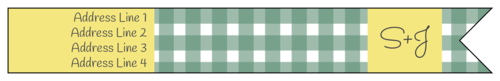 Picnic-Style Wrap-Around Address Label