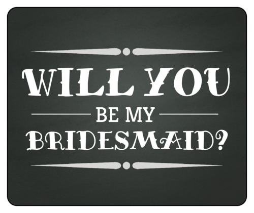 Chalkboard Bridesmaid Proposal Wine Bottle Label