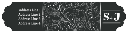 Chalkboard Floral Wrap-Around Address Label