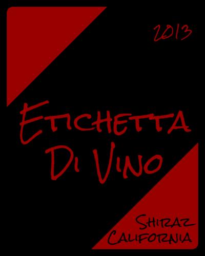 Red & Black Colorblock Rugged Wine Bottle Label