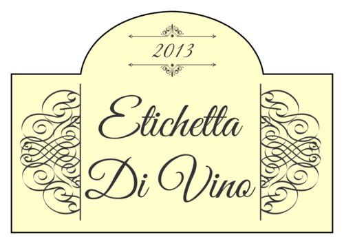 Classic Filigree Wine Bottle Label