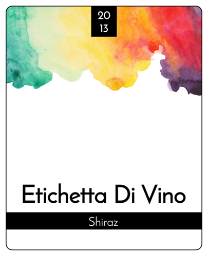 Water Color Wine Bottle Label