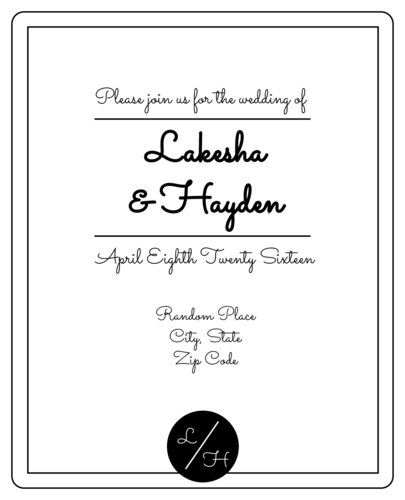 Simplistic Wedding Wine Bottle Label