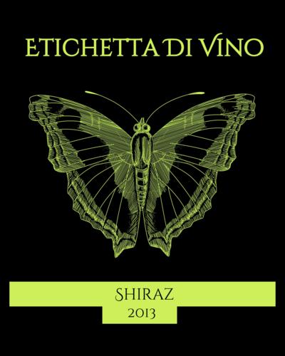 Butterfly Wine Bottle Label