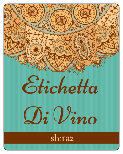 Mediterranean Wine Bottle Label