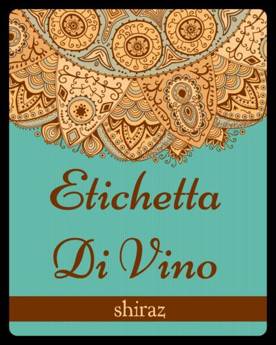 Mediterranean Wine Bottle Label