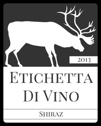 Elk Silhouette Wine Bottle Label