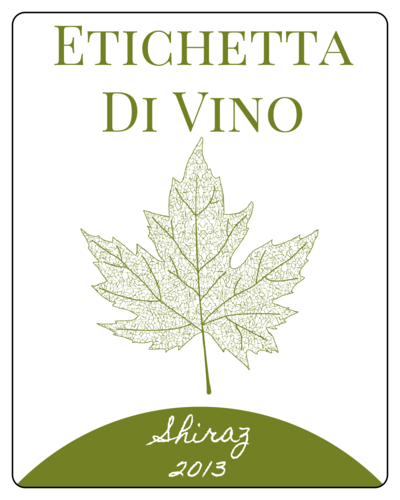 Leaf Wine Bottle Label