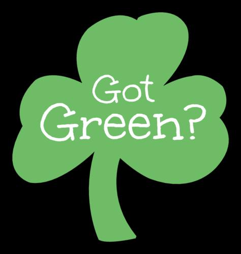 """Got Green?"" St. Patrick's Day Clover Label"