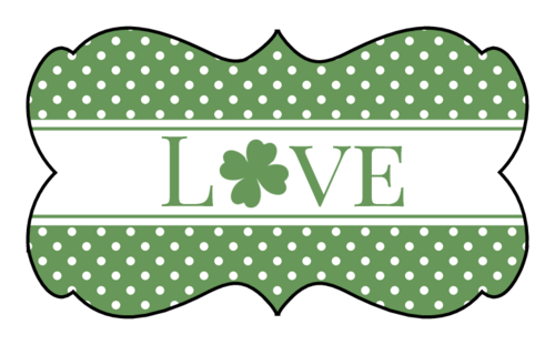 "St. Patrick's Day ""Love"" Decorative Label"