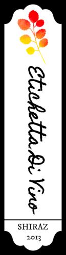 Flower Wine Bottle Label