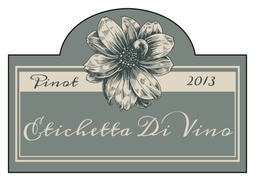 Vintage Floral Wine Bottle Label