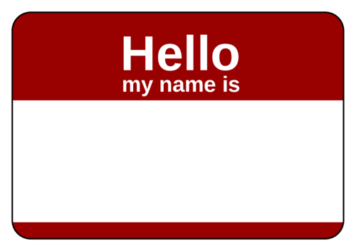 """Hello My Name Is"" Standard Name Tag"