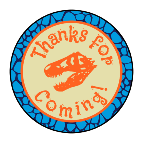 Dinosaur Birthday Goody Bag Label