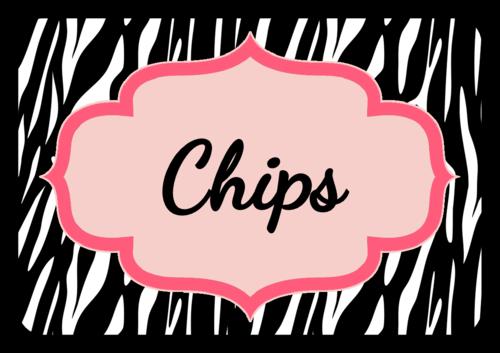 Zebra Birthday Snack Label