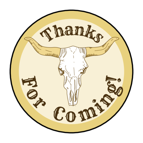 Cowboy-Themed Birthday Goody Bag Label