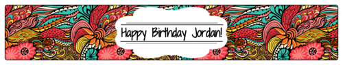 Colorful Birthday Water Bottle Label