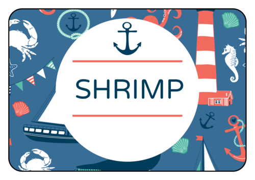 Nautical Birthday Snack Label