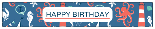 Nautical Birthday Water Bottle Label