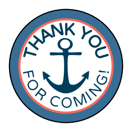 Nautical Birthday Goody Bag Label