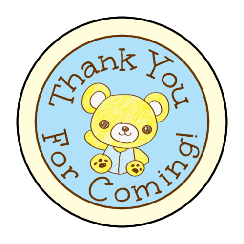 Teddy Bear Birthday Goody Bag Label