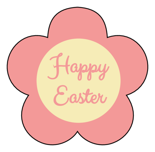 """Happy Easter"" Flower Label"