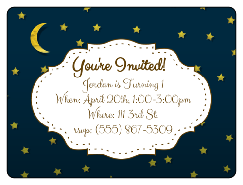Starry Night Birthday Invite