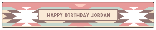 Tribal Birthday Party Water Bottle Label