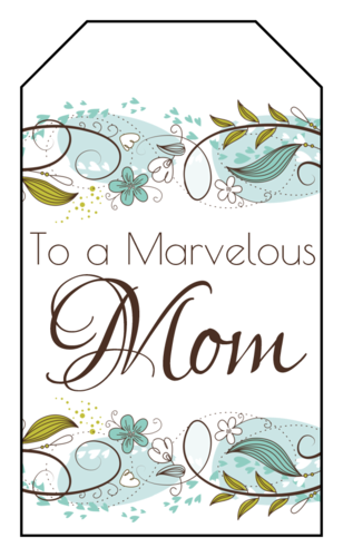 Floral Mother's Day Gift Tag