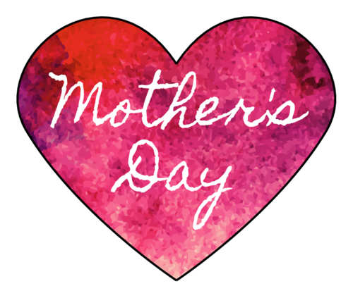 Mother's Day Watercolor Heart Sticker