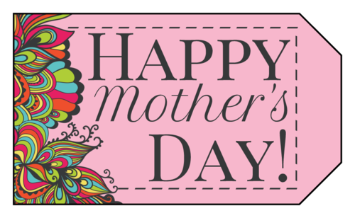 "Psychedelic ""Happy Mother's Day"" Gift Tag"