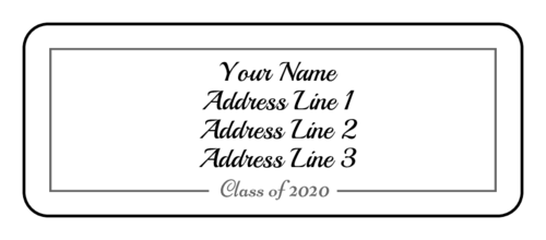 Graduation Class of Address Label