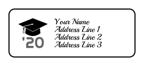 Graduation Year Cap Address Label