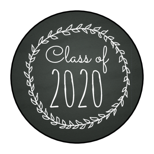"""Class Of"" Chalkboard Graduation Envelope Seal"