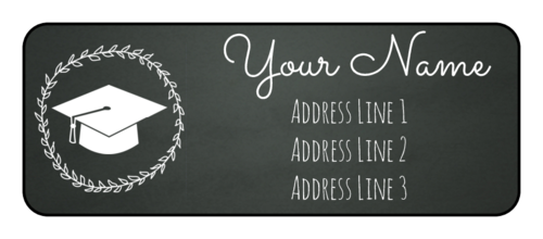 Chalkboard Graduation Address Label