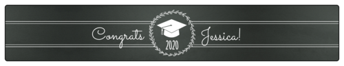 Chalkboard Graduation Water Bottle Label