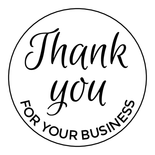 "Simple ""Thank You For Your Business"" Label"
