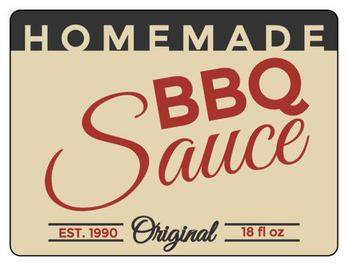 Homemade Barbecue Sauce Bottle Label
