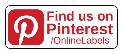 """Find Us On Pinterest"" Social Media Label"
