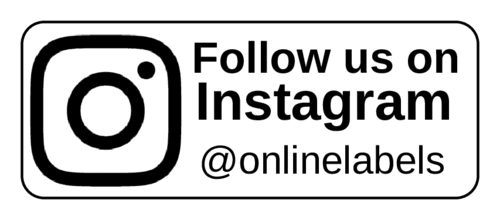 """Follow Us On Instagram"" Social Media Label"