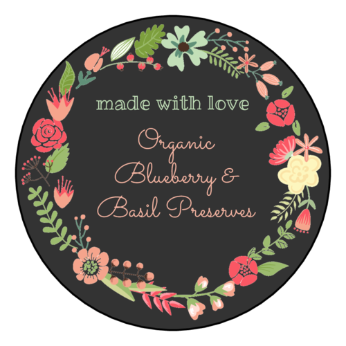 """Made With Love"" Floral Wreath Label"