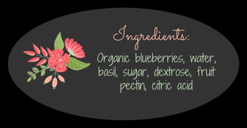 Floral Jar Ingredients Label